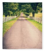 Country Back Roads Fleece Blanket