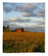 Country Backroad Fleece Blanket