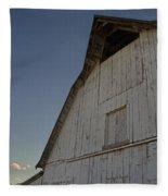 Country Barn And Mt Ashland Fleece Blanket