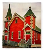 Country Church Paint Fleece Blanket