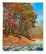 Country Curves And Vultures Fleece Blanket