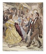 Country Dance, 1820s Fleece Blanket