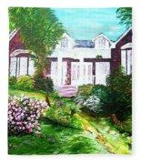 Country Estate In Spring Fleece Blanket
