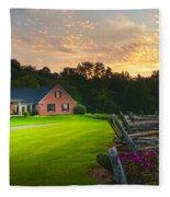 Country Estate Sunset Fleece Blanket