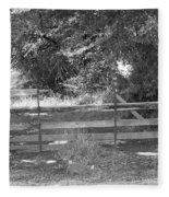 Country Fence Fleece Blanket