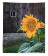 Country Flower Fleece Blanket