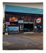 Country Garage Fleece Blanket