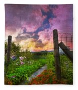 Country Garden Fleece Blanket