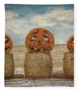 Country Halloween Fleece Blanket