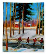 Country Hockey Rink Fleece Blanket