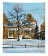 Country Home Impasto Fleece Blanket