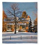 Country Home Oil Fleece Blanket