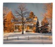 Country Home Fleece Blanket