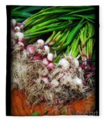 Country Kitchen - Onions Fleece Blanket