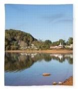 Country Lake Scene Fleece Blanket