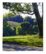 Country Landscape Fleece Blanket
