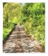 Country Lane Watercolour Fleece Blanket