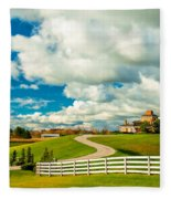 Country Living Painted Fleece Blanket