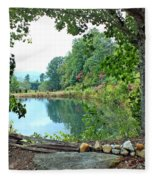 Country Pond Fleece Blanket