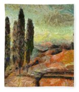 A Sunset In Tuscany Fleece Blanket