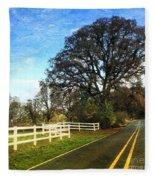 Country Road On Sauvie Island Fleece Blanket