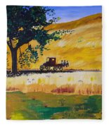 Country Roads Fleece Blanket