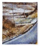 Country Roads In Ohio Fleece Blanket