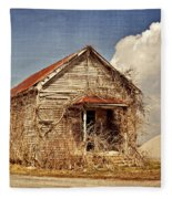 Country Schoolhouse  Fleece Blanket