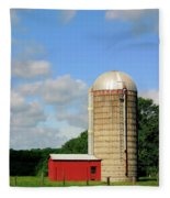 Country Silo Fleece Blanket