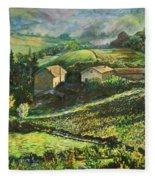Country Sundown Fleece Blanket