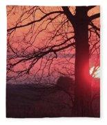 Country Sunset Fleece Blanket