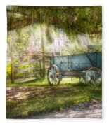 Country - The Old Wagon Out Back  Fleece Blanket