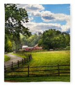 Country - The Pasture  Fleece Blanket