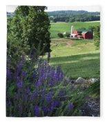 Country Valley Fleece Blanket
