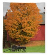 Country Wagon Fleece Blanket