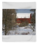 Country Winter Fleece Blanket