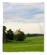 Countryside Charm Fleece Blanket