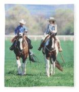 Couple Riding Fleece Blanket