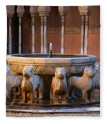 Court Of The Lions In The Alhambra Fleece Blanket
