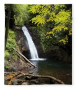 Courthouse Falls In North Carolina Fleece Blanket