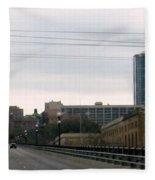 Courthouse Fort Worth Texas Fleece Blanket