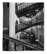 Courthouse Staircases Fleece Blanket