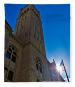 Courthouse Tower Fleece Blanket