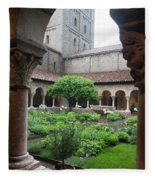 Courtyard At The Cloisters Fleece Blanket