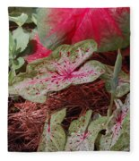 Courtyard Caladium Fleece Blanket