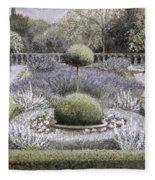 Courtyard Garden Fleece Blanket