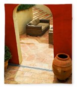 Courtyard Of A Villa Fleece Blanket