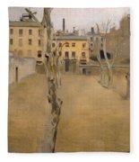 Courtyard Of The Old Barcelona Prison. Courtyard Of The Lambs Fleece Blanket