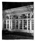 Courtyard View Fleece Blanket