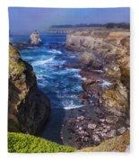 Cove On The Mendocino Coast Fleece Blanket
